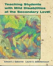 Cover of: Teaching students with mild disabilities at the secondary level