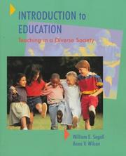 Cover of: Introduction to Education | William E. Segall