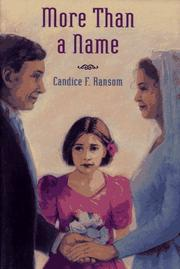 Cover of: More than a name