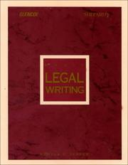 Cover of: Basic legal writing