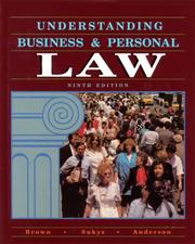 Cover of: Understanding Business and Personal Law