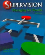 Cover of: Supervision | John W. Newstrom
