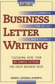 Cover of: Business letter writing