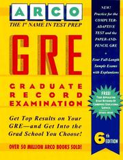 Cover of: Gre: Graduate Record Examination  | Thomas H. Martinson