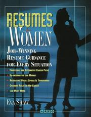 Cover of: Resumes for women | Eva Shaw