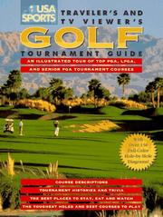 Cover of: USA sports traveler's and TV viewer's golf tournament guide