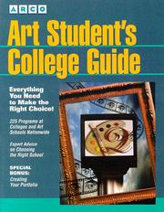 Cover of: Art Student's College Guide