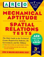 Mechanical aptitude and spatial relations tests by Joan U. Levy