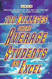 Cover of: 100 colleges where average students can excel