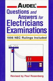 Cover of: Audel Questions and Answers for Electricians Examinations | Paul Rosenberg