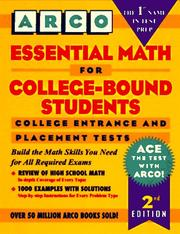 Cover of: Essential math for college-bound students | Levy, Norman