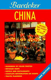 Cover of: Baedeker China (Baedeker