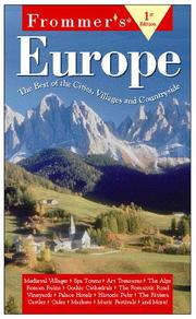Cover of: Frommer's Europe