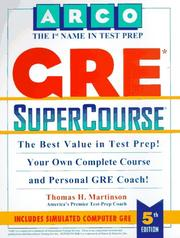 Cover of: Gre Supercourse (Supercourse for the Gre)