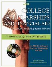 Cover of: College Scholarship 7E Book/Di (College Scholarships and Financial Aid) | Arco