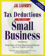Cover of: J.K. Lasser's Tax Deductions for Small Businesses (2nd ed) | Barbara Weltman