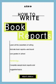 Cover of: How to Write Book Reports