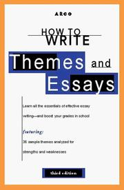 Cover of: How to Write Themes & Essays 3rd ed