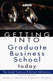Cover of: Getting Into Business School 2E