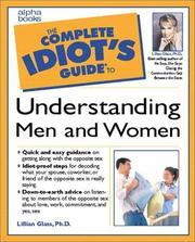 Cover of: The complete idiot's guide to understanding men and women