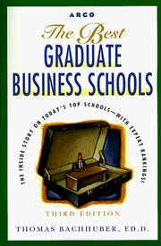 Cover of: Best Graduate Business Schools