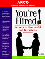 Cover of: You're Hired Secrets to SuccJobInterview