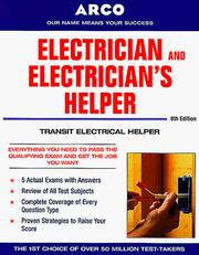 Cover of: Electrician & Electrician's Helper 8E (Electrician and Electrician's Helper)