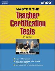 Teacher Certification Tests (Arco Professional Certification and Licensing Examination Series)
