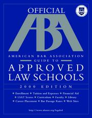 Cover of: Official ABA GD/Approved Law SC (Serial)
