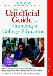 Cover of: Unofficial Guide to Financing A College Education (Unofficial Guides)