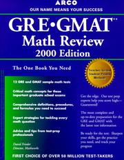 Cover of: GRE/GMAT Math Review 5th ED (Gre Gmat Math Review)