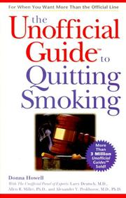 Cover of: The Unofficial Guide to Quitting Smoking