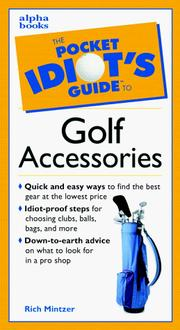 Cover of: The pocket idiot's guide to golf accessories