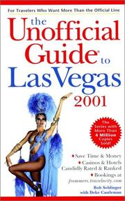 Cover of: The unofficial guide to Las Vegas 2001
