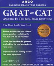 Cover of: Gmat-Cat: Answers to the Real Essay Questions