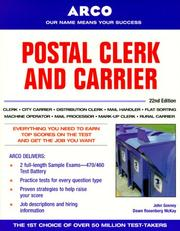 Cover of: Postal Clerk and Carrier, 22/e (Postal Clerk and Carrier)
