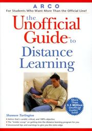 Cover of: Unofficial Guide to Distance Learning (Education & Guidance)