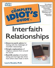 Cover of: The complete idiot's guide to interfaith relationships