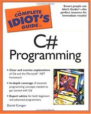 Cover of: The complete idiot's guide to C# programming