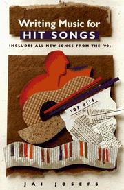 Cover of: Writing music for hit songs: including new songs from the '90s
