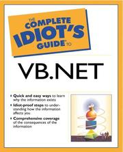 Cover of: The Complete Idiot's Guide to VB.NET