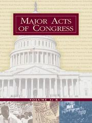 Cover of: Major Acts of Congress