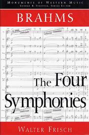 Cover of: Brahms, the four symphonies