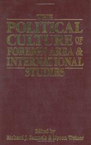 Cover of: The Political culture of foreign area and international studies