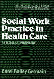 Cover of: Social work practice in health care