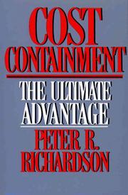 Cover of: Cost containment | Peter R. Richardson