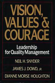 Cover of: Vision, values, and courage
