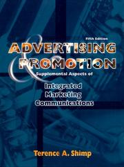 Cover of: Advertising, Promotion and Supplemental Aspects of Integrated Marketing Communications