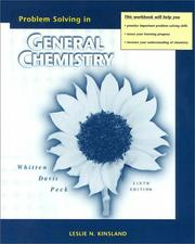 Cover of: General Chemistry Problem Solving Workbook 6e