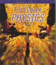 Cover of: College Physics, Vol. 1